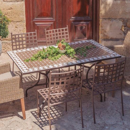 Offerte Tavoli Da Giardino In Ferro.Tavolo Da Giardino Rettangolare In Ferro Battuto Offerte Tavoli