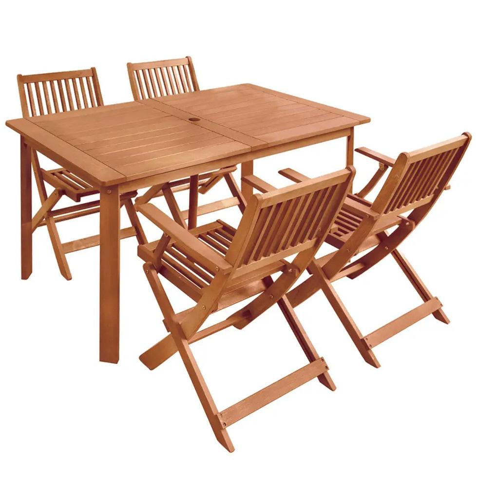 Tavolo In Legno Con Sedie Da Giardino.Set Tavolo 4 Sedie Da Giardino In Legno Offerte Set Giardino