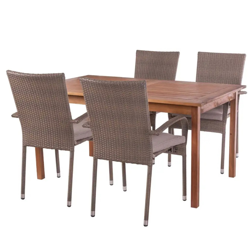Sedie In Legno Da Giardino Offerte.Offerta Set Tavolo 4 Sedie Giardino Sconti Arredo Giardino