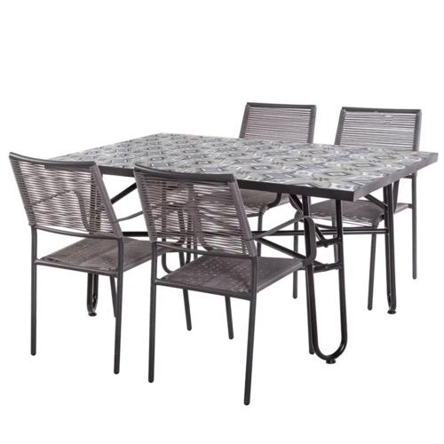 Set Da Giardino Tavolo E Sedie.Set Tavoli E Sedie Etniche Industrial Shabby Provenzali Giardino
