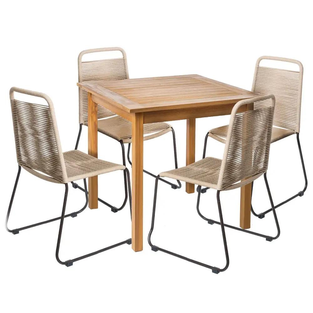 Tavoli Da Giardino Scontati.Set Tavolo E Sedie Naturali Da Giardino