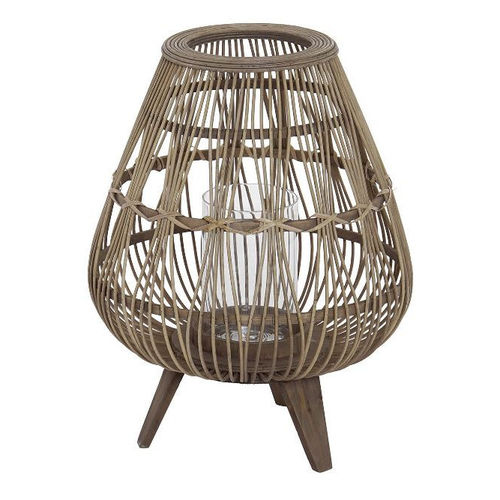 Portacandela jungle rattan
