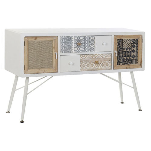 Buffet porta tv boho chic bianco