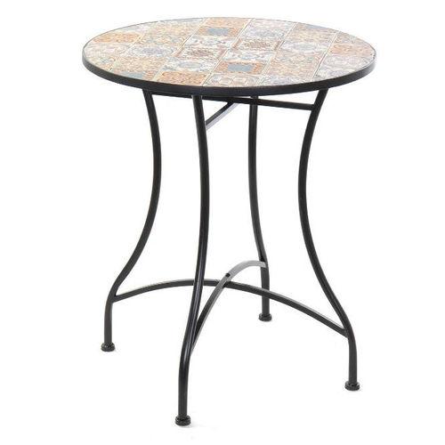 Tavoli Da Giardino Provenzali.Tavolo Giardino Provenzale Vintage Ferro Disegno Mosaico Maioliche Etnicoutlet Ebay