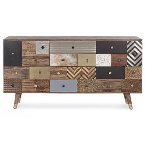 Buffet country chic marrone