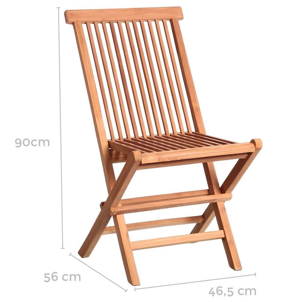 Sedia da giardino pieghevole teak - Tavoli e sedie da giardino