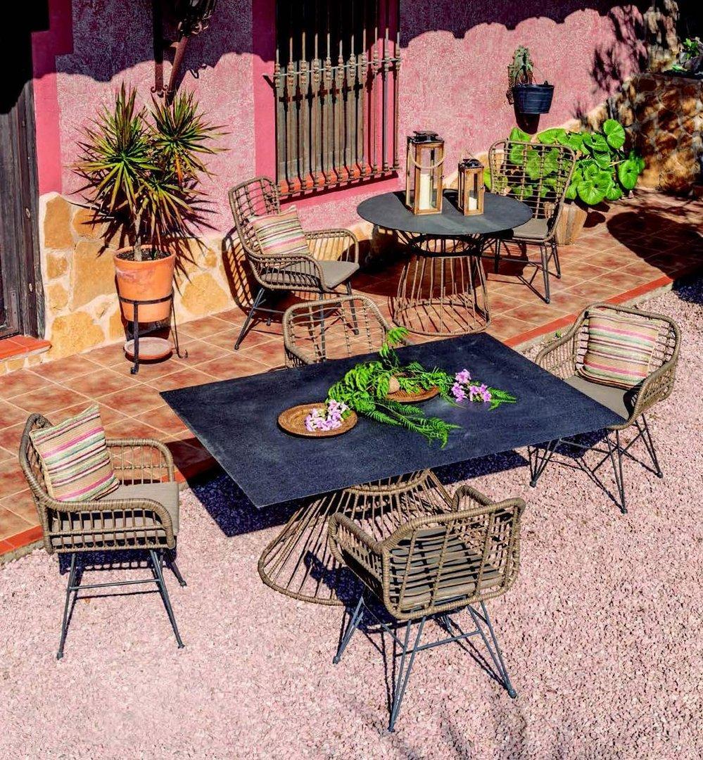 Tavolo da pranzo vintage giardino ETNICO OUTLET Mobili Etnici