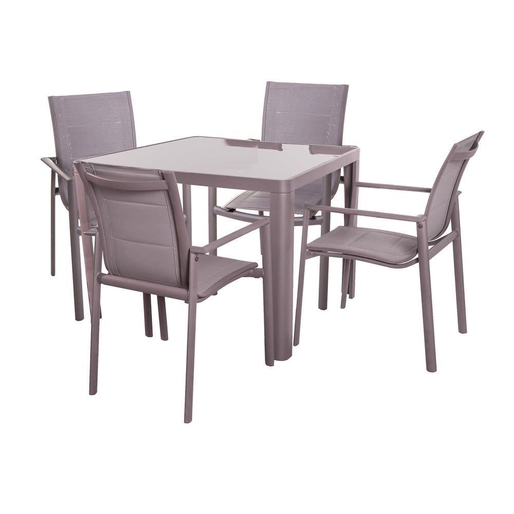 Set Tavolo 4 Sedie Alluminio Da Giardino Offerte Giardino