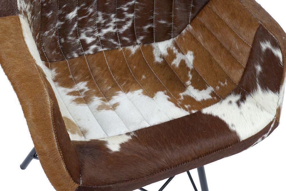 Sedia stile vintage pelle mucca vacca vintage orientali ...