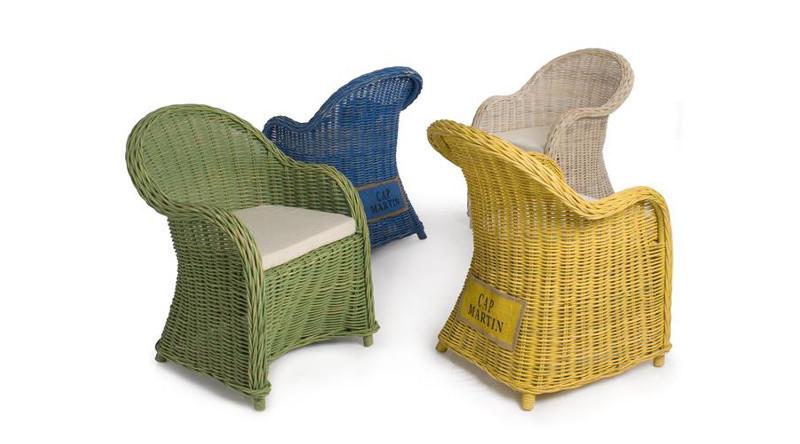 Sedie Giardino Rattan Sintetico.Sedie E Poltroncine Etniche Provenzali Shabby Rattan Per Esterno