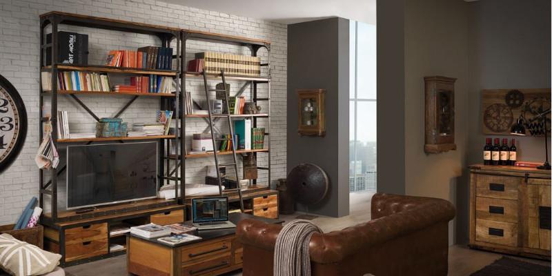 Librerie industrial e vintage vendita on line scontate for Vendita arredamento vintage