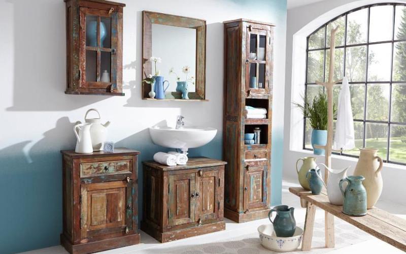 Mobili bagno industrial e vintage offerte e sconti on line - Arredo bagno vintage ...