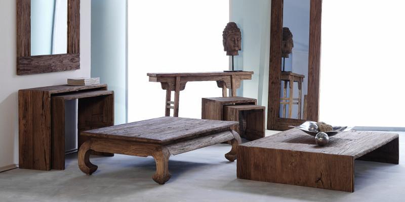 TAVOLI BASSI E TAVOLINI ETNICI legno Mobili salotto Etnico OnLine